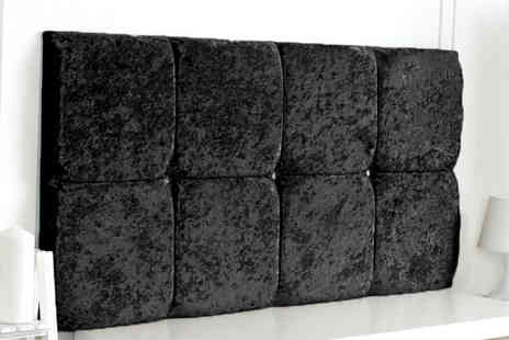 Serene Living - Crushed velvet headboard choose from five colours and six sizes - Save 51%