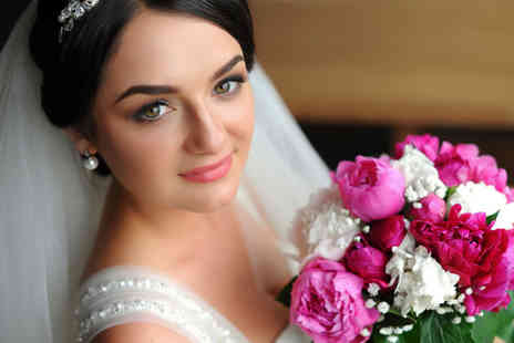 Charmed Floristree - Floral wedding package including a bridal bouquet, bridesmaids flowers and groomsmen buttonholes or corsages - Save 76%