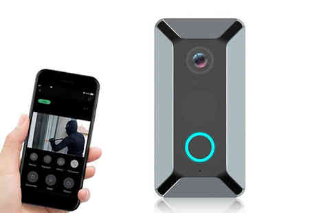CN Direct Biz - Wireless smart camera doorbell choose from two colours - Save 66%