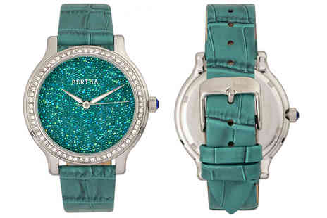 Ideal Deal - Bertha Cora Encrusted Crystal Watch Choose from 3 Colours - Save 86%
