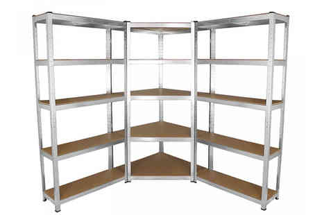monster shop - Galwix 90cm Racking Bundle Corner Shelving and 2 Garage Racking Bays - Save 73%