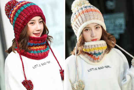 Yellow Goods - Matching hat and scarf set choose between six colours - Save 67%