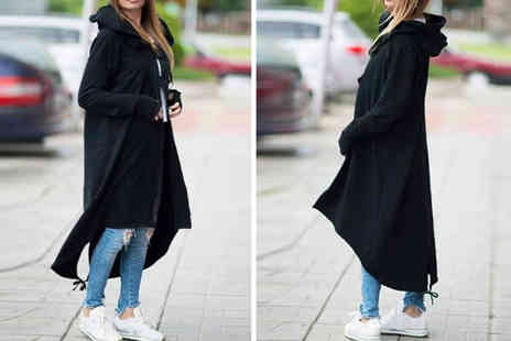 PinkPree - Long hooded trench coat choose from three colours - Save 0%