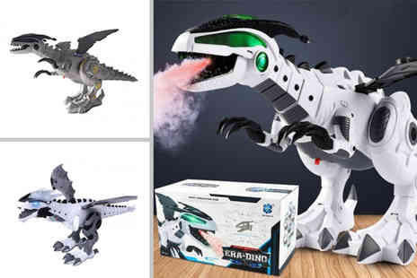 WowWhatWho - Vapour breathing dragon dinosaur choose from four colours - Save 65%
