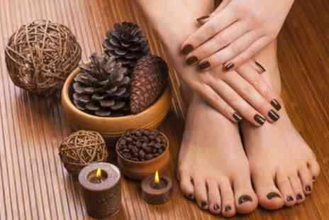 Aroma Beauty Bar - Deluxe Manicure, Pedicure or Both - Save 52%