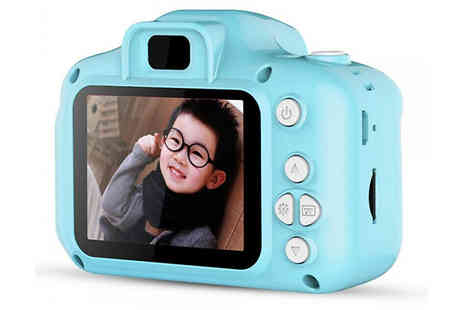 My Blu Fish - Kids Mini 1080p Digital Video Camera Choose from 3 Colours and Optional Sd Card - Save 75%