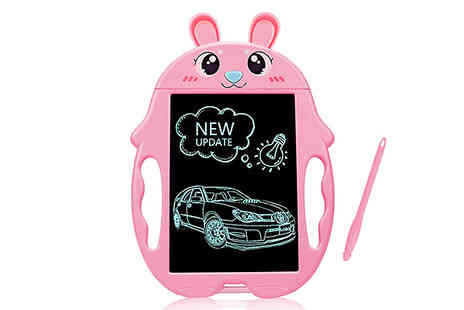 Bag A Bargain - 8.5 Inch Kids Lcd Writing Tablet Choose from 3 Colours and 2 Designs - Save 80%
