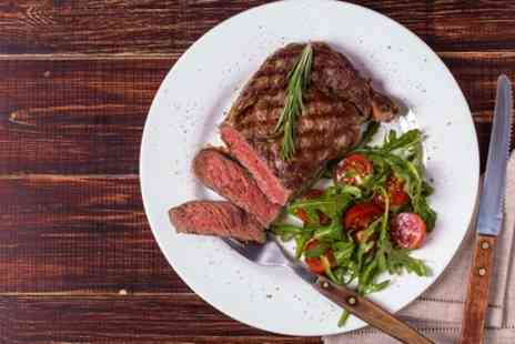 The Frog - Ribeye or Chicken Steak with Wine for Two or Four - Save 41%