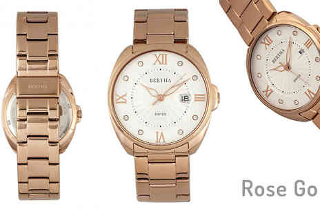 Ideal Deal - Womens Bertha Amelia Watch Choose from 4 Colours - Save 87%