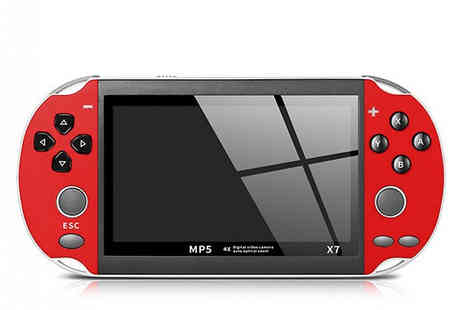 Secret Plums - 4.3 Inch Handheld Game Console Choose from 4 Colours - Save 67%