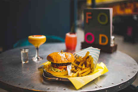 Revolution Bars - Burger and fries or pizza and cocktail for one person - Save 58%