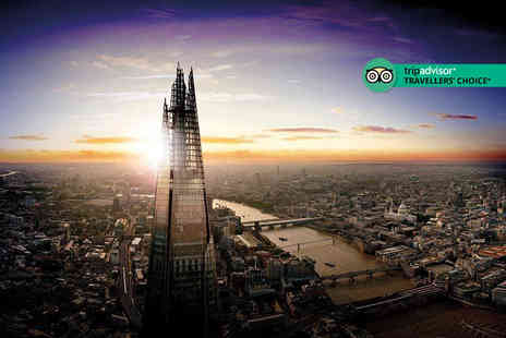 The View from The Shard - Entry to The View from The Shard indoor viewing gallery and open air Skydeck on level 72 for two people - Save 52%