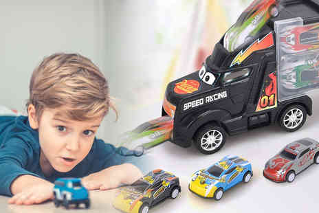 MBLogic - Cargo truck toy set choose from four colours - Save 67%