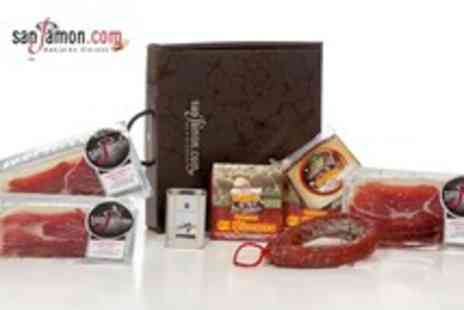 San Jamon - Hamper inc. 300g Bellota ham, 450g chorizo, 300g Manchego & 125ml olive oil - Save 59%
