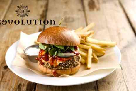 Revolution Bars - Pizza or Burger and Cocktail for One or Two - Save 59%