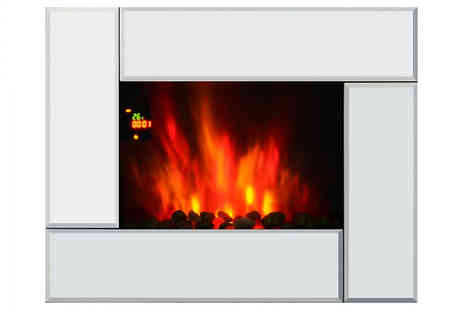 Mhstar - 7 Colour Led Heated Electric Fireplace - Save 44%