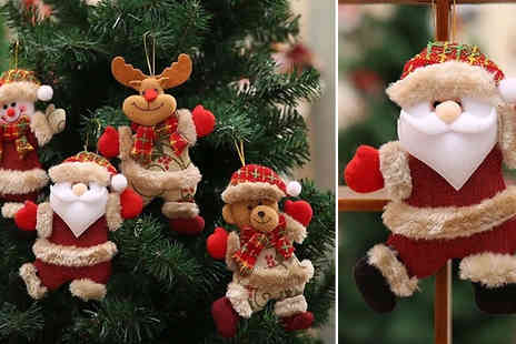 EClife Style - Pack of 2 Hanging Christmas Ornaments Choose from 4 Designs - Save 50%
