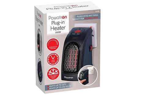 Home Season - Powatron 350W Plug In Heater - Save 74%